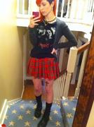 Hayley Williams ~ Sexy Self-Photo in Plaid Mini-skirt