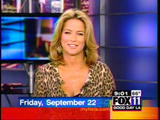 """Dorothy Lucey - great cleavage and nice thighs on """"Good Day LA"""" (9-22-06)"""